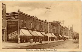Main St., Looking South, Brampton, Ont.