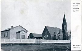 Old stone church and Anglican Church, Dixie