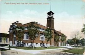 Public Library and Fire Hall, Brampton, Ont., Canada