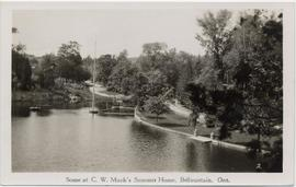 Scene at C. W. Mack's Summer Home, Belfountain, Ont.