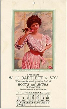 The girl in pink Cop. '08, The Osborne Co. N. Y. I am from W. H. Bartlett & Son Who carry th...